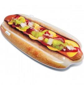 Надуваем матрак Intex Hot dog (180 X 89 cm)