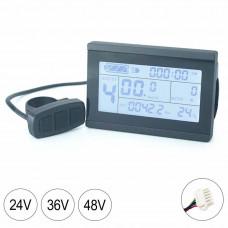 Аксесоари Bmc-Tech KT-LCD3 Скоростомер Електрически Велосипед 48V (След ремонт A+)