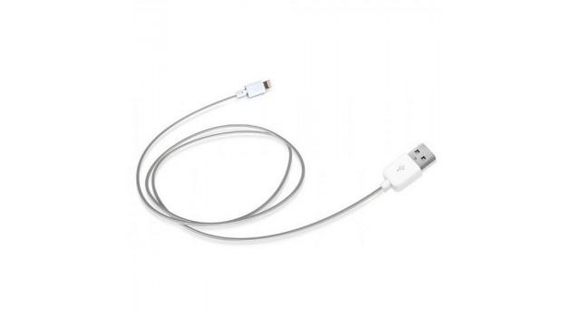 Кабел USB към Lightning SBS TECABLEUSBIP5 1 m Бял