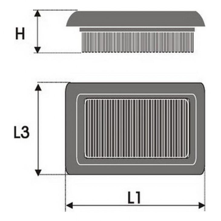 Въздушен филтър Green Filters P545760