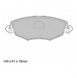 Спирачни накладки Black Diamond PP491 Проветриво Фронтален