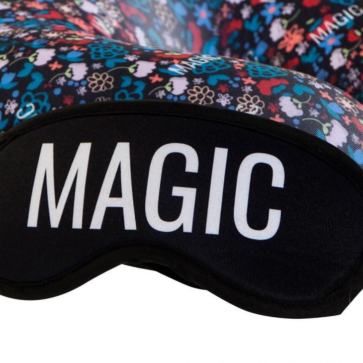 възглавницата за врат DKD Home Decor Magic На пътуване Черен Многоцветен полиестер Пяна (2 pcs) (30 x 30 x 8.5 cm)