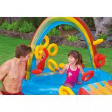 Inflatable Paddling Pool for Children Intex Rainbow 206 l