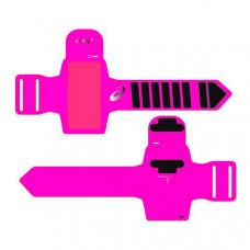 Спортна Лента за Ръка с Изход за Слушалки Asics MP3 Arm Tube Розов