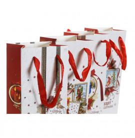 Коледна Чанта DKD Home Decor хартия (4 pcs) (11.5 x 9 x 35.5 cm)