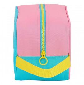 Пътническа Чанта за Обувки Benetton Color Block Жълт Розов цвят тюркоаз полиестер