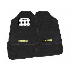 Комплект Постелки за Кола Momo 016 Универсален Черен/Червен (4 pcs)