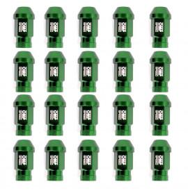 Set Гайки OMP 7075 40 mm M12 x 1,50 20 uds Зелен