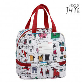 Чанта за Обяд Algo de Jaime Бял Многоцветен (15 L)