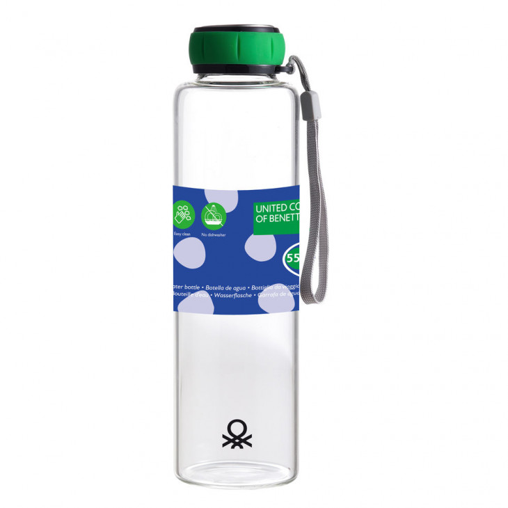 Бутилка за вода  RAINBOW BE Benetton Зелен (550 ml)
